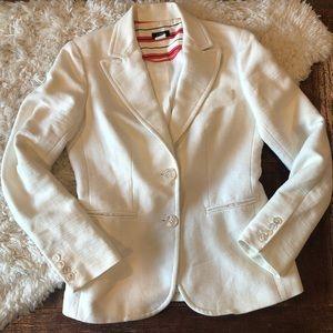 J. Crew | Classic Cream Linen Schoolboy Blazer